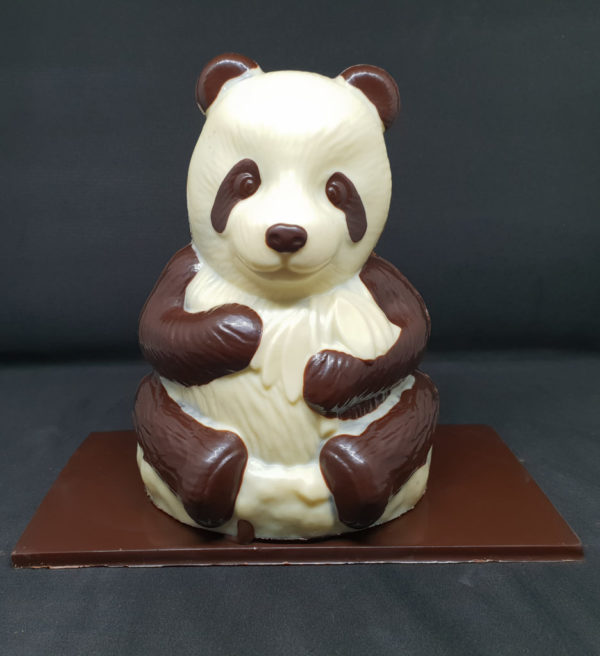 Panda chocolat noir et blanc