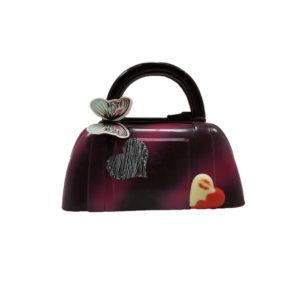 sac à main au chocolat noir décoré